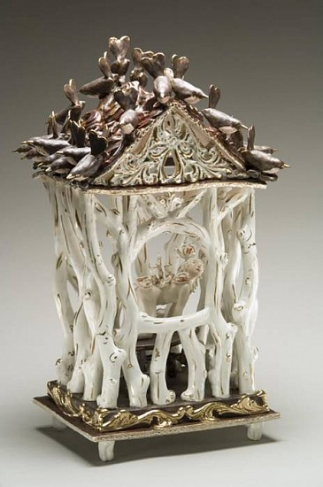 Chris Antemann, 4 N 20 House Wrens 2006, porcelain