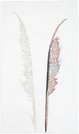 Ian Boyden & Timothy C. Ely, Alchemical Quill No. 11 2010, mixed media on paper