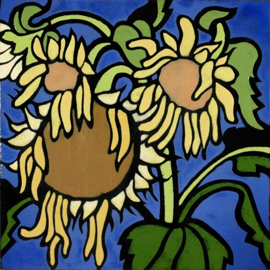 Harold Balazs, Sunflowers 2/2 1978, enamel on steel