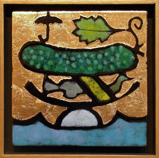 Harold Balazs, Rockin' Pickle 2006, glass on metal