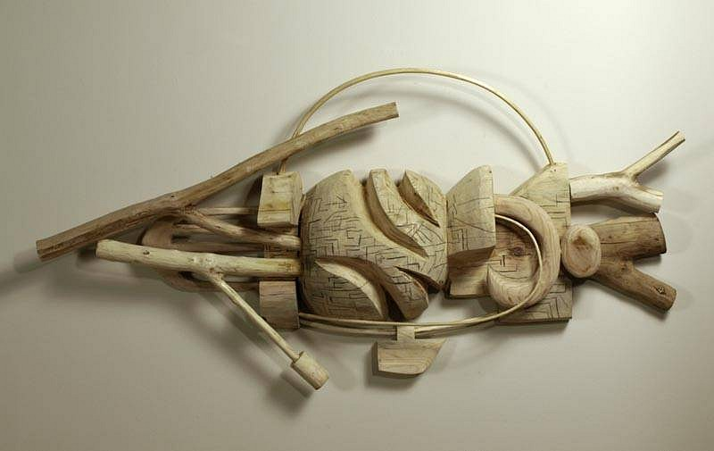 Harold Balazs, An Upstream Being 2009, mixed wood