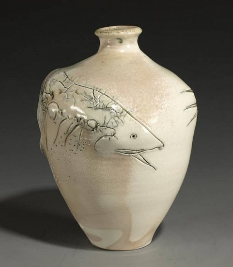 Frank Boyden, White Salmon Spawning 2010, wood fired porcelain