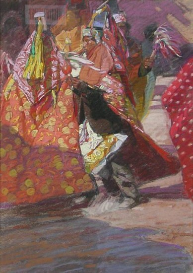 George Carlson, Colors of the Tarahumara 1982, pastel
