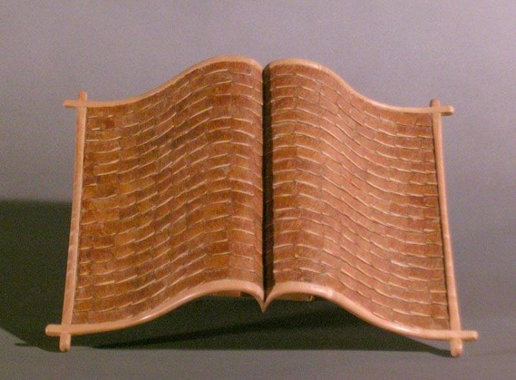 Morse Clary, Maple Wings Manuscript 2004, wood and maple