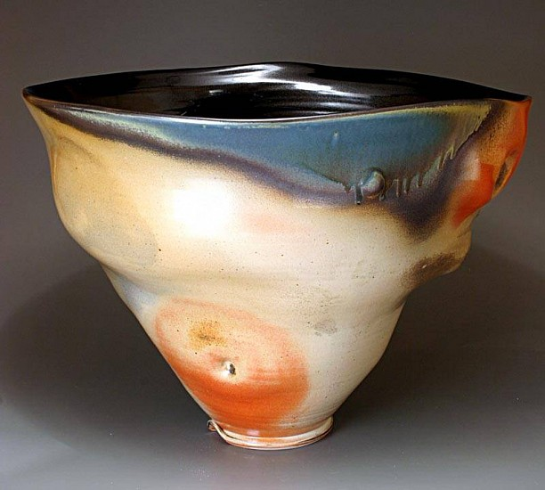 Tom Coleman, Large Thrown and Altered  Shino Bowl 2010, porcelain