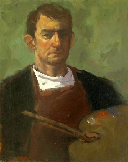 Don Ealy, Artist Self Portrait oil on panel
