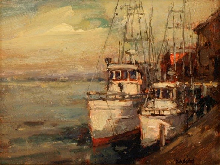Don Ealy, Boats at Dawn 2007, oil