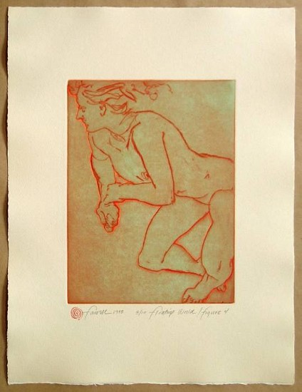 Mary Farrell, Floating World / Figure 4 framed intaglio