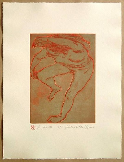 Mary Farrell, Floating World / Figure 6 1998, framed intaglio