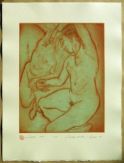 Mary Farrell, Floating World / Figure 14 1998, framed intaglio