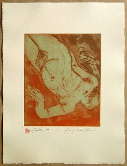Mary Farrell, Floating World / Figure 9 1998, framed intaglio