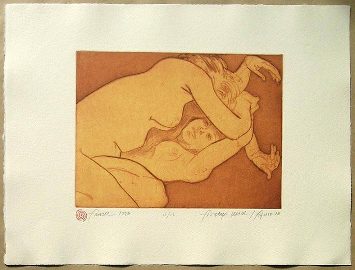 Mary Farrell, Floasting World / Figure 18 1998, framed intaglio