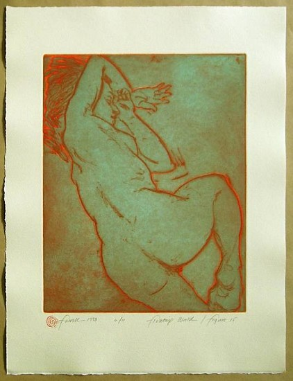 Mary Farrell, Floating World / Figure 15 1998, framed intaglio