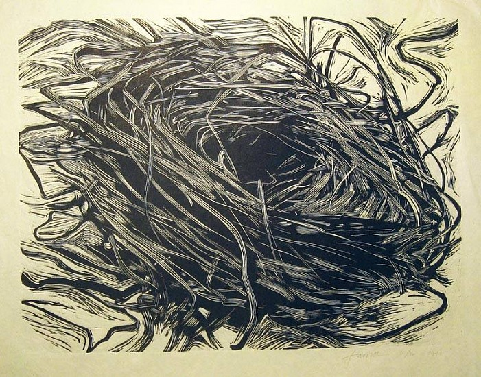 Mary Farrell, Untitled Nest 1996, woodcut