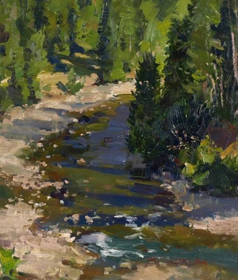Del Gish, Priest River oil on panel