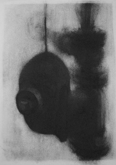 Elaine Green, In an Effort to Control: Suspended 2008, charcoal on paper