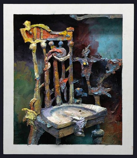 Robert Grimes, First Chair 2012, oil on wood relief panel