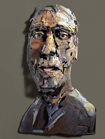 Robert Grimes, Mr. Calyx 2013, wire, wood & oil