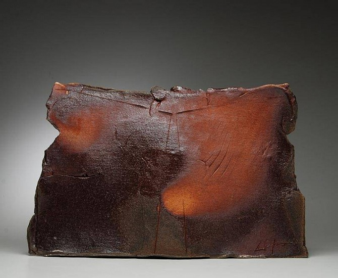 Chuck Hindes, Untitled # 18 2010, wood fired stoneware