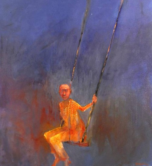 Mel McCuddin, Pendulum 2008, oil on canvas