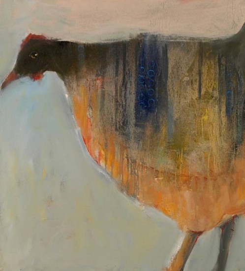 Mel McCuddin, Chicken Mama 2010, oil on canvas