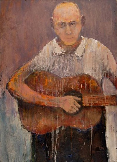 Mel McCuddin, Pickin' 2012, oil on wood