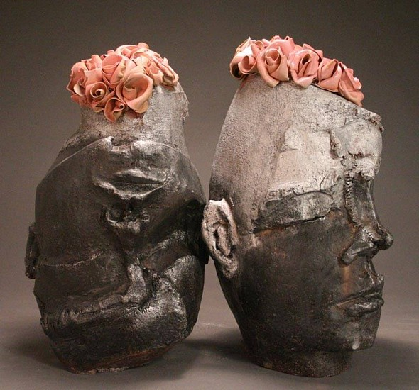 Ryan Mitchell, Two Boys 2010, wood fired stoneware/porcelain