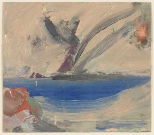 Ben Frank Moss, Blue Bowl/Spring 1984, oil