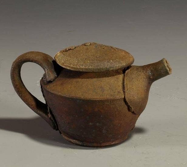 Daniel Murphy, Teapot 2012, wood fired iron rich clay with natural ash glaze