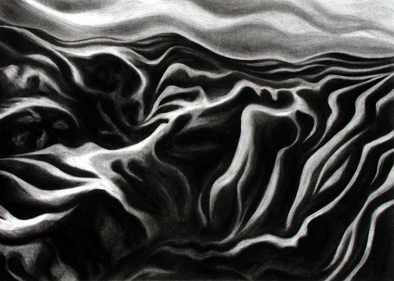 Katherine Nelson, Palouse Aerial View II 2006, charcoal