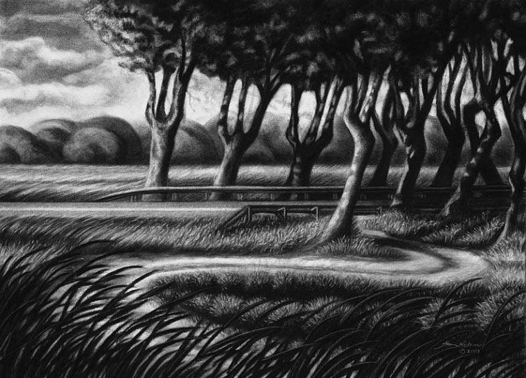 Katherine Nelson, Provence Passages 2009, charcoal & pastel