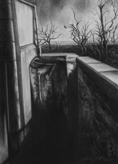 Katherine Nelson, The Wishing Well 2010, charcoal & pastel on paper