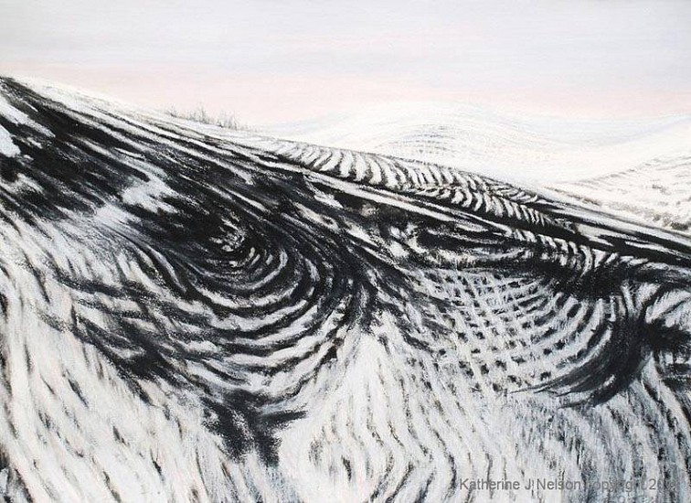 Katherine Nelson, Chrystal Winter 2011, charcoal & pastel on paper