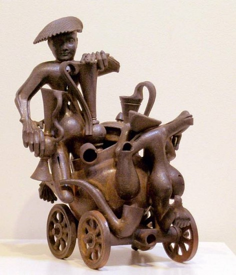 Eric Nelsen, Caravan of Connoisseurs 1992, woof fired clay