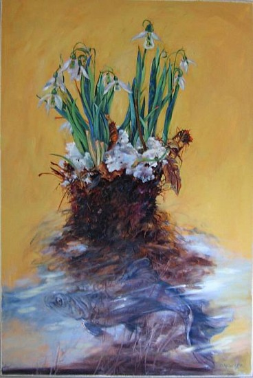 Kay O'Rourke, Galanthus 2009, oil on canvas