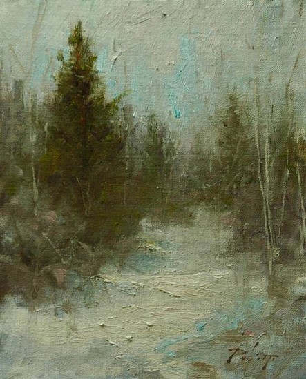 Kyle Paliotto, Solitude 2009, oil on linen