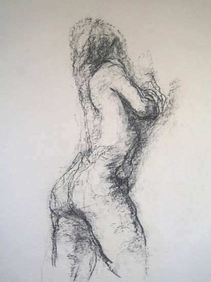 Claudia Pettis, Female Figure 2008, charcoal on handmade paper