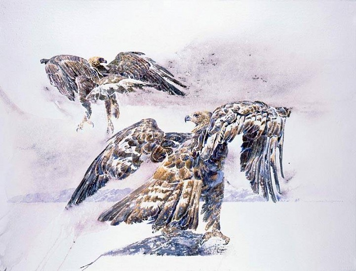 Charles Timothy Prutzer, How Deep is the Soul of an Eagle II mixed media