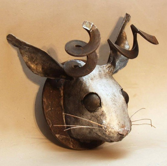 Tyree Riggs, Just Jackalope 2012, welded steel