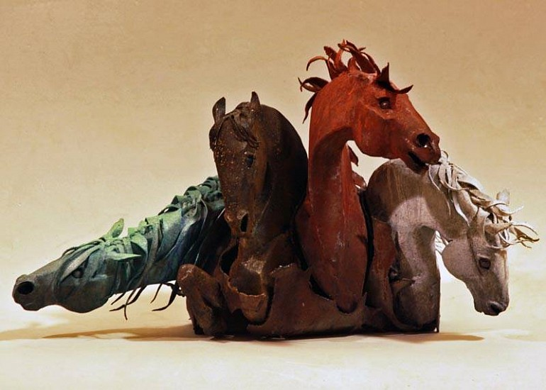 Tyree Riggs, The Four Horses 2012, welded steel