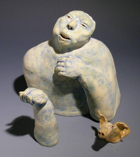Susan Rooke, Dialogue 2006, clay with underglazes