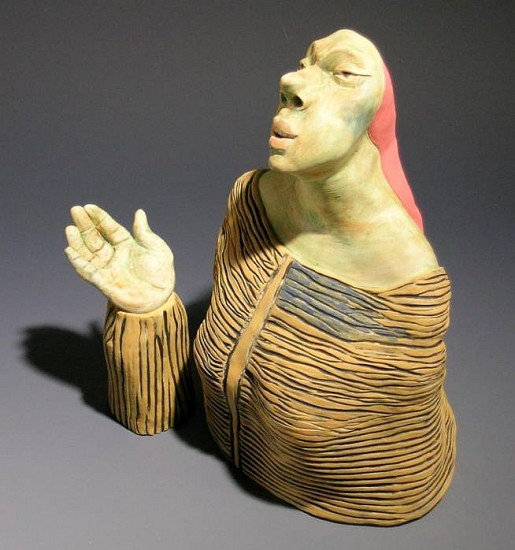 Susan Rooke, The Question 2007, clay with underglazes