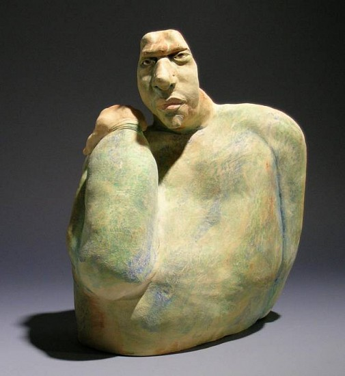 Susan Rooke, Hunter 2007, clay with underglazes