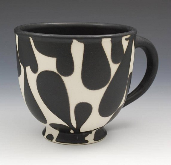 Sam Scott, Black and White Cup 2010, porcelain