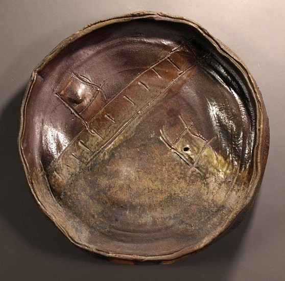 Al Tennant, Platter 2010, wood fired stoneware