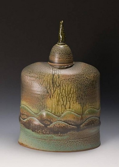 Jeff Tousley, Oval Covered Jar 2007, stoneware