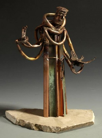 Sister Paula Turnbull, St Francis of Assisi metal sculpture