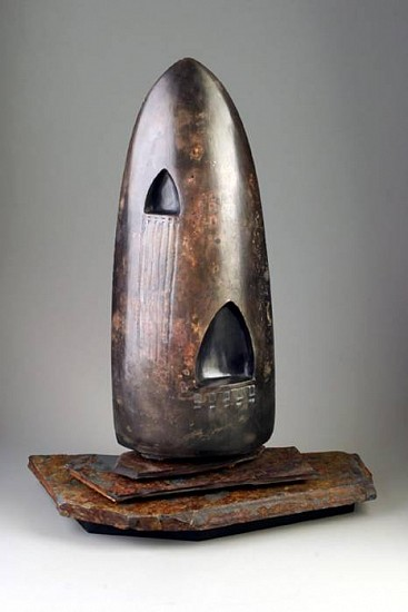 Ken Turner, Shape of War and Peace 2000, clay, stone, wood & wax