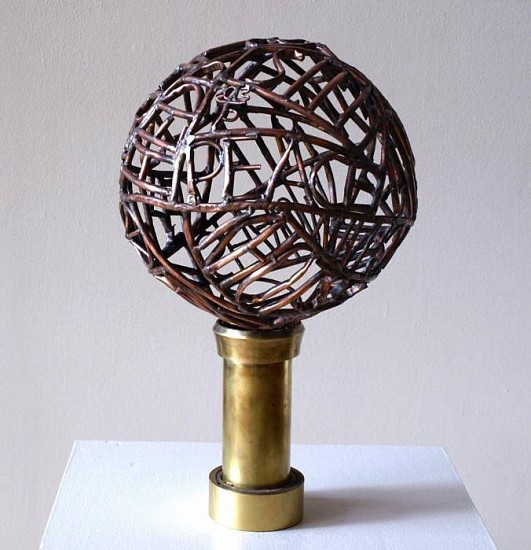 Sister Paula Turnbull, Peace 2013, welded copper on brass base