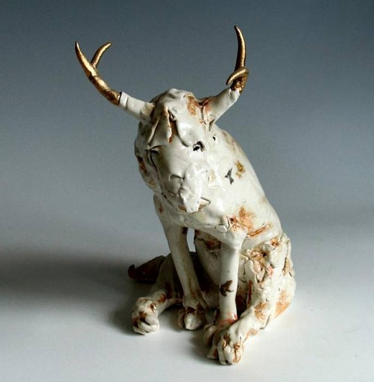 Cary Weigand, Deerdog 2011, porcelain